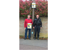 Gordon Joyner (left), Chair of the Cumnor Resident's Association and PC Carl Bryant (right)