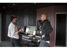 Administrerende direktør i Microsoft Norge, Kimberly Lein-Mathisen og manager, partner og leder av musikkselskapet MER, Gunnar Greve.