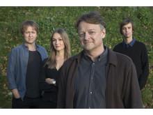 Dan Josefsson, Anna Nordbeck, Johannes Hallbom och Jakob Larsson, vinnare av Stora Journalistpriset 2017
