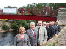 Elgin councillors at the new Lossie Wynd bridge