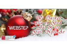 God Jul önskar vi på Webstep