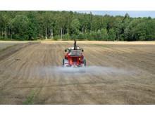 Traktorn styrs via GPS