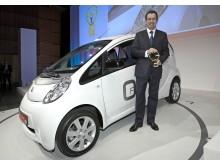 "Peugeot iOn fick det prestigefulla priset ""Gröna Ratten"" 2010"