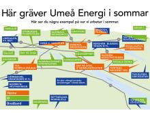 Här gräver Umeå Energi sommaren 2017