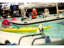 Aktivitetshallen på Båtmässan 2015