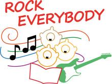 Rock Everybody – logotype i färg