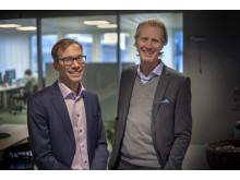 Stefan Krook, VD Kivra & Per Einarsson, VD Findity (foto: Jojje Pettersson). Finditys plattform för digitala kvitton blir grunden för kvittosatsning från Kivra.