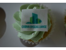 KIck-off for Grønn Byggallianse: Muffins med ny logo.