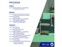 Elmia Subcontractor 2019 - Program för Welandkoncernen