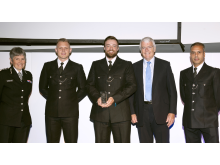 Bravery Award - PCs Shaylor, Whittaker & Khan with John Major