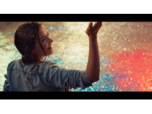 "BRAVIA 4K HDR TV ""Balloons"" commercial still"