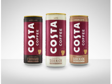 Costa Coffee RTD product line up