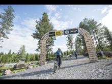 Inngangen til sykkelpark- og stier i Trysil