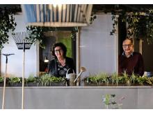 Pia Hansson och Mattias Frisk