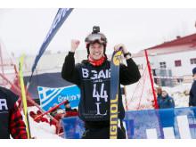 Anton Axellie, vinnare alpina klassen i LTU Big Air 2019 på Luleå tekniska universitet
