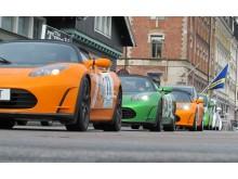 60 bilar i 2013 års elbilsrally