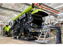 Assembly of combine harvesters at CLAAS in Harsewinkel