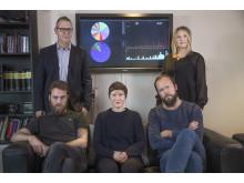 Matti Larsson, Martin Fredriksson, Emma Boëthius, Ulf Fahlén och Johanna Hovnert, nominerade till Stora Journalistpriset 2017