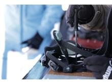 Bei rund 30.000 Besuchern in vier Tagen überquert ein Ski oder Snowboard so rund 9.000 Mal den Service-Tisch.