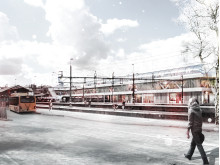 Stationsområdet sett från Tingshusgatan