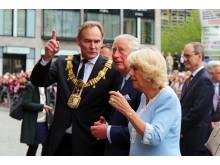 OB Burkhard Jung, Prinz Charles und Herzogin Camilla - Royals in Leipzig