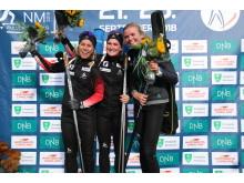 Tiril Ekchoff,Fossum IF, Marte O.Røiseland, Froland IL og Thekla Brun-Lie, Oslo Skiskytterlag