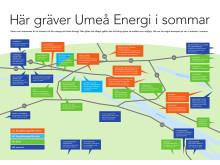Umeå gräver rekordmycket i sommar