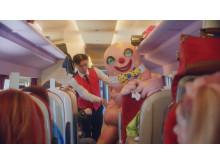 Virgin Trains CSA Kai and Mr Blobby