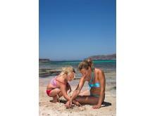På en ferie på Kreta er der bedre muligheder for at bygge sandslotte end på en sommerferie ved Vesterhavet.
