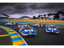Vozy Ford GT na letošním závodě 24 hodin Le Mans