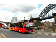 Electric bus trial at Go North East