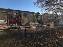 Sagoborg bakom byggstänglet