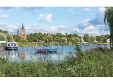 Blick auf die Altstadt von Werder/Havel