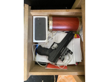 Gun seized in situ