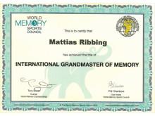 International Grandmaster of Memory