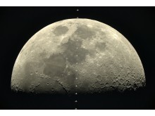 ISS passing the moon