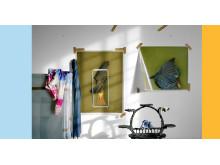 Edgar Leciejewski, Wand 08.09.2017, 2017, Collage, matte und glänzende Farbfotografie auf AluDibond, Glas, Holz, 348 cm x 180 cm