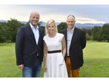 Golf-Benefizturnier der Stadtsparkasse München zu Gunsten der Deutschen Stiftung Kinderdermatologie. Von li.: Ralf Fleischer, Prinzessin Tatjana von Bayern, Prinz Wolfgang von Bayern