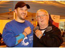 L-R Richard Quinn with dad, cancer survivor Bartley Quinn