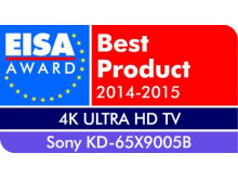 European 4K Ultra HD TV of the year 2014-2015: KD-65X9005B