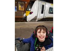 David Elston and Thameslink train