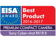 EUROPEAN PREMIUM COMPACT CAMERA 2016-2017 - Sony Cyber-shot RX1R II drop shadow