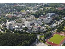 Flygbild på Akademiska sjukhuset