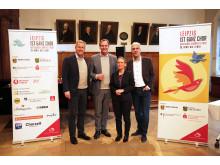 Christian Wulff, Burkhard Jung, Veronika Petzold und Tobias Rosenthal (v.l.) stellen das Deutsche Chorfest 2020 vor