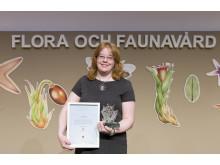 Kajsa Mellbrand tar emot Artdatabankens naturvårdspris 2017