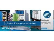 Spillskydd på riktigt! Testat och certifierat från DENIOS