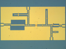 Micrograph of the fabricated mixer circuit