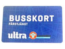 Exempel på busskort för färdtjänstresenär