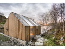 Traditionell norwegisches Bootshaus - Kebony Fassade