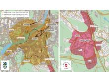 Karta över nästa generation av lånecykelsystemet Styr & Ställ i Göteborg och Mölndal från  våren 2020
